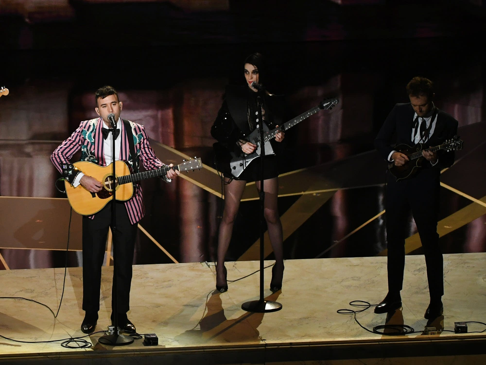 Sufjan Stevens performs with St. Vincent and Chris Thile.