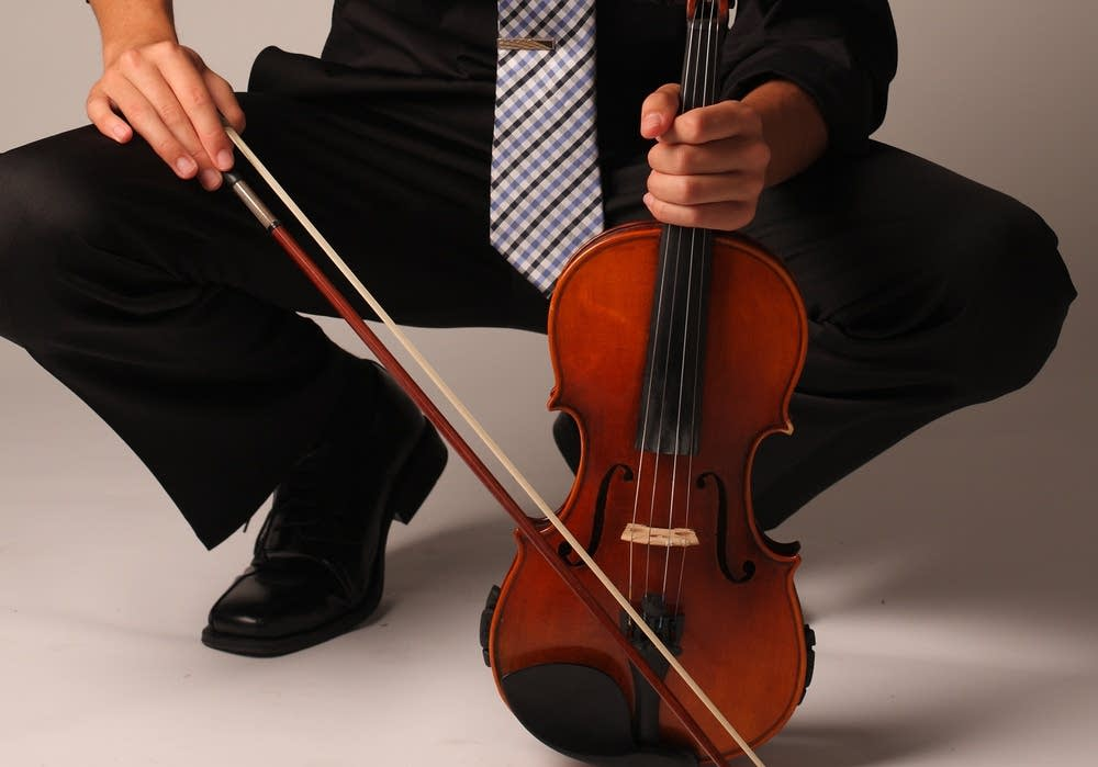 Grant Johnson with his violin