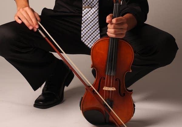 Grant Johnson with his violin