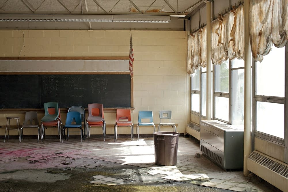 Water damaged classroom