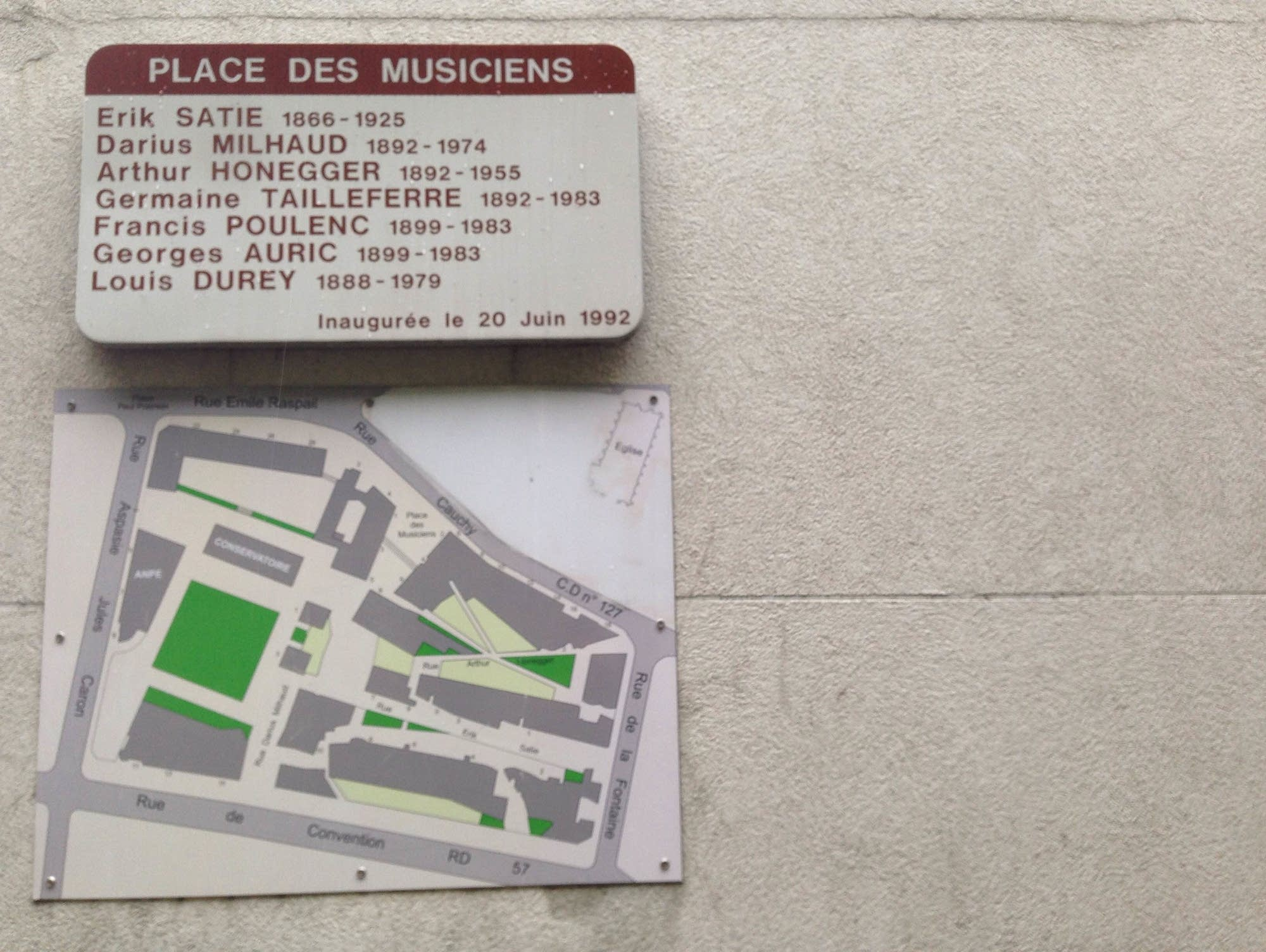 Place des Musiciens commemorates Les Six