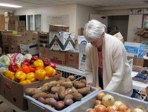 Food shelf volunteer