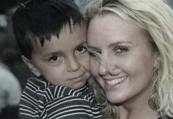 Dylan Pearson, 3, and his mother, Jennifer Nordeen