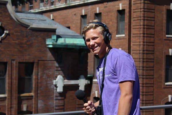 Radio Camp reporter Josiah Lemm