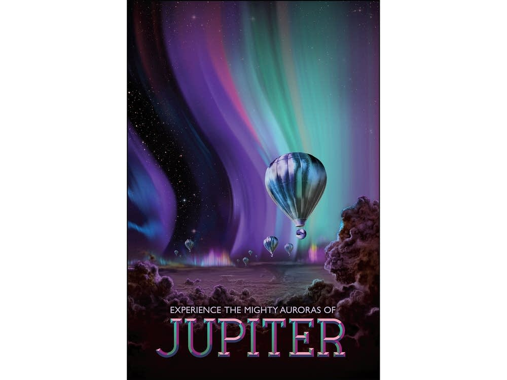 Experience the mighty auroras of Jupiter