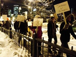 Homeless march in Minneapolis