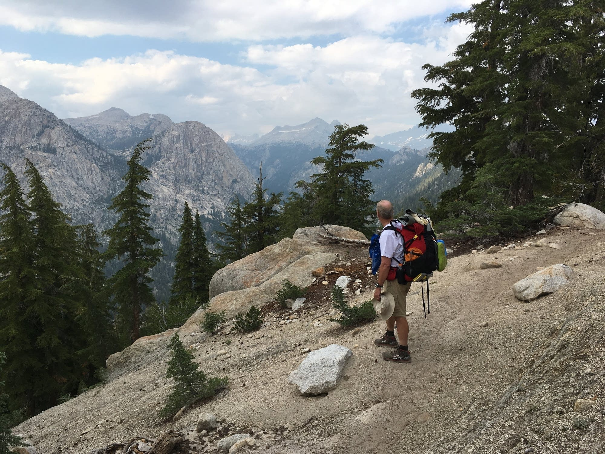 Bob Johnson takes in the view on the Pacific Crest Trail