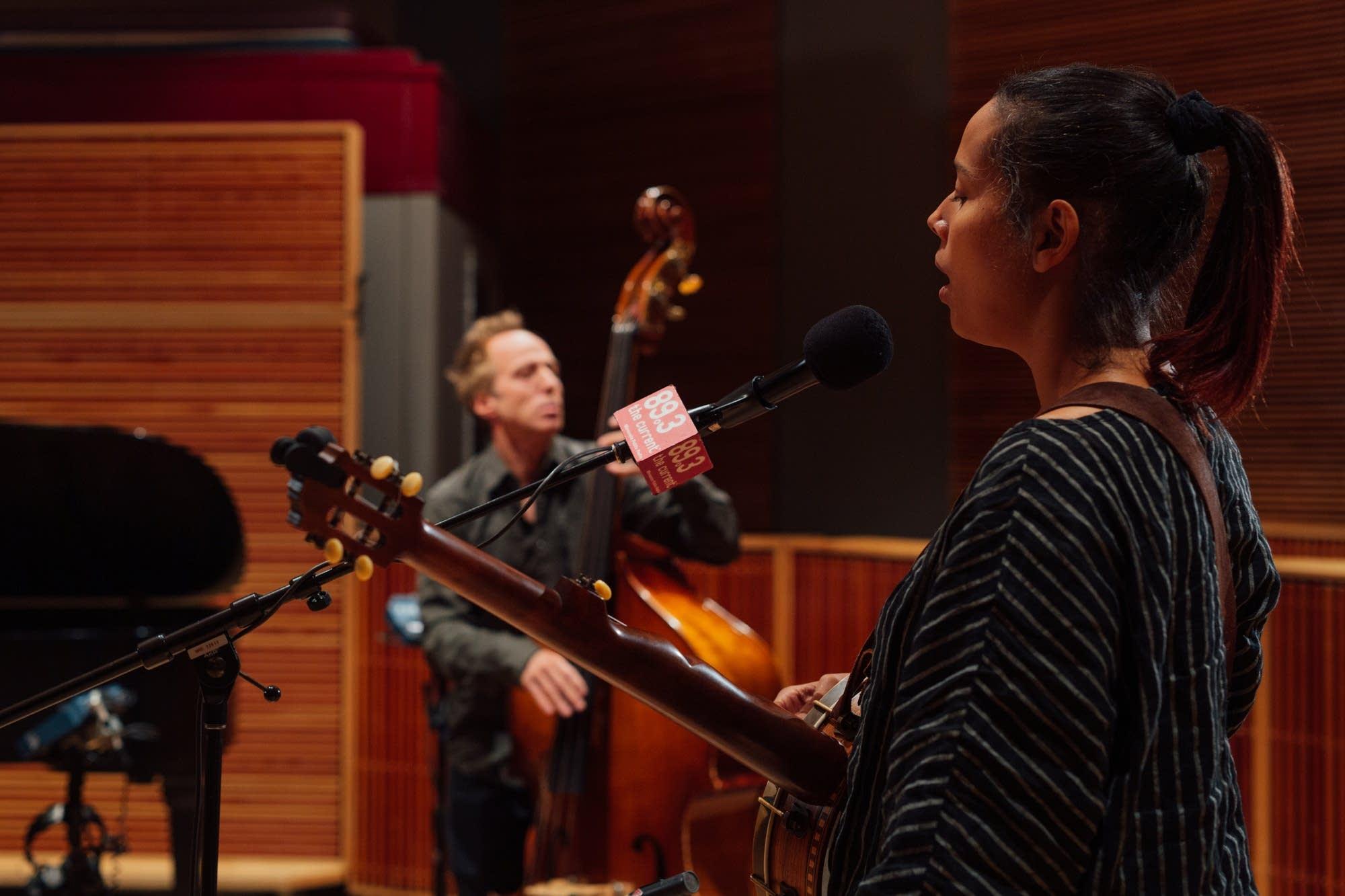 Rhiannon Giddens in The Current studio