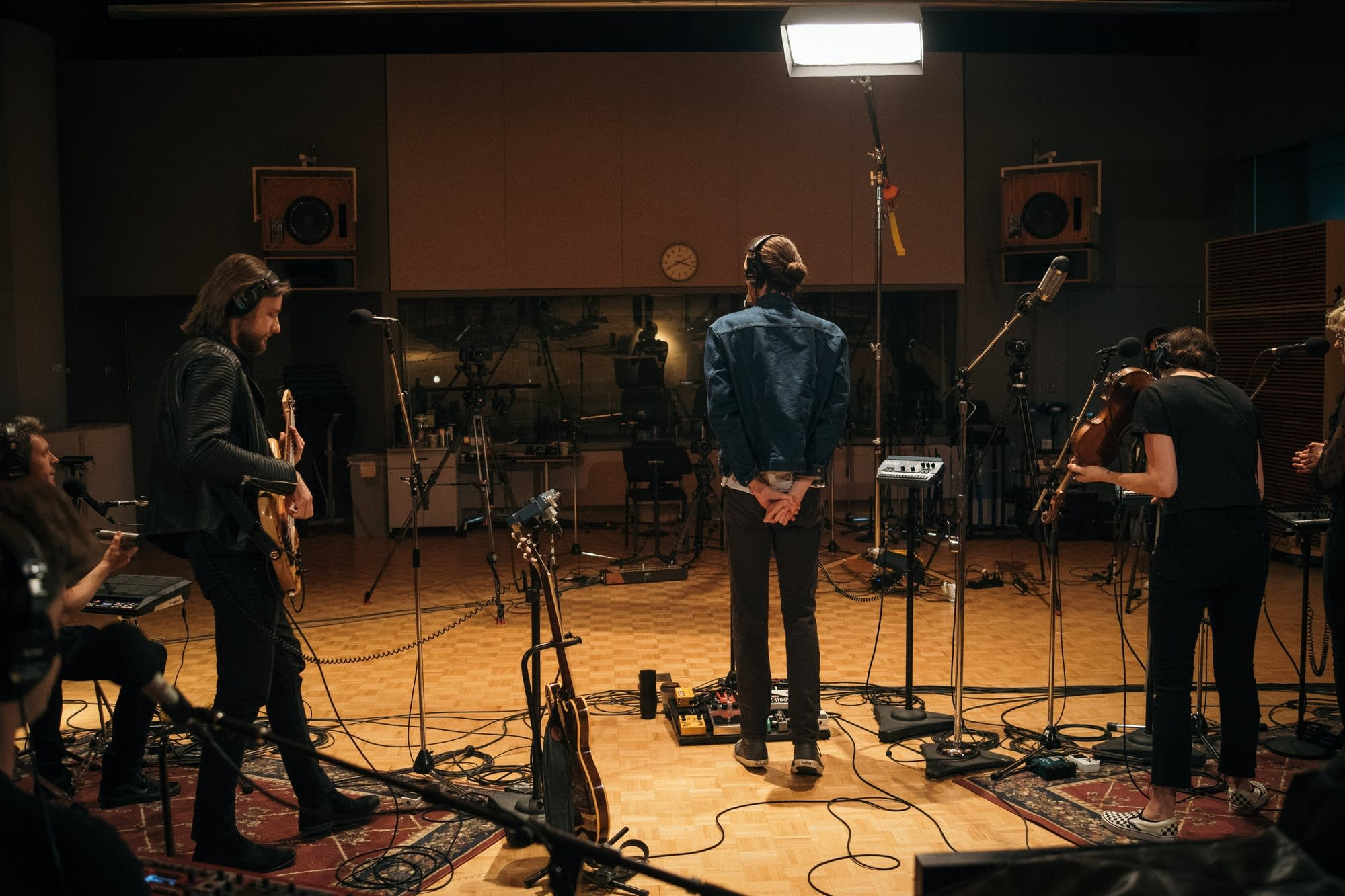 Hozier performs in The Current studio