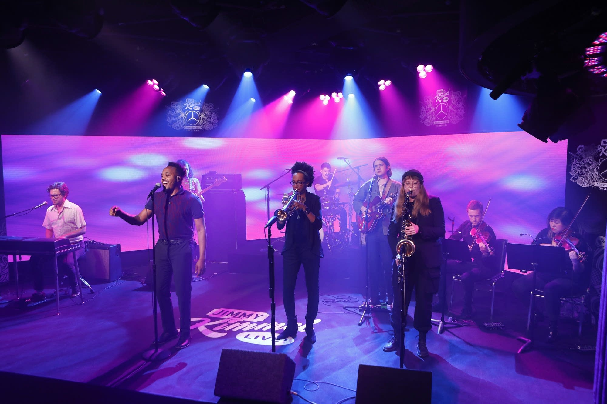 Durand Jones and the Indications perform on 'Jimmy Kimmel Live!'
