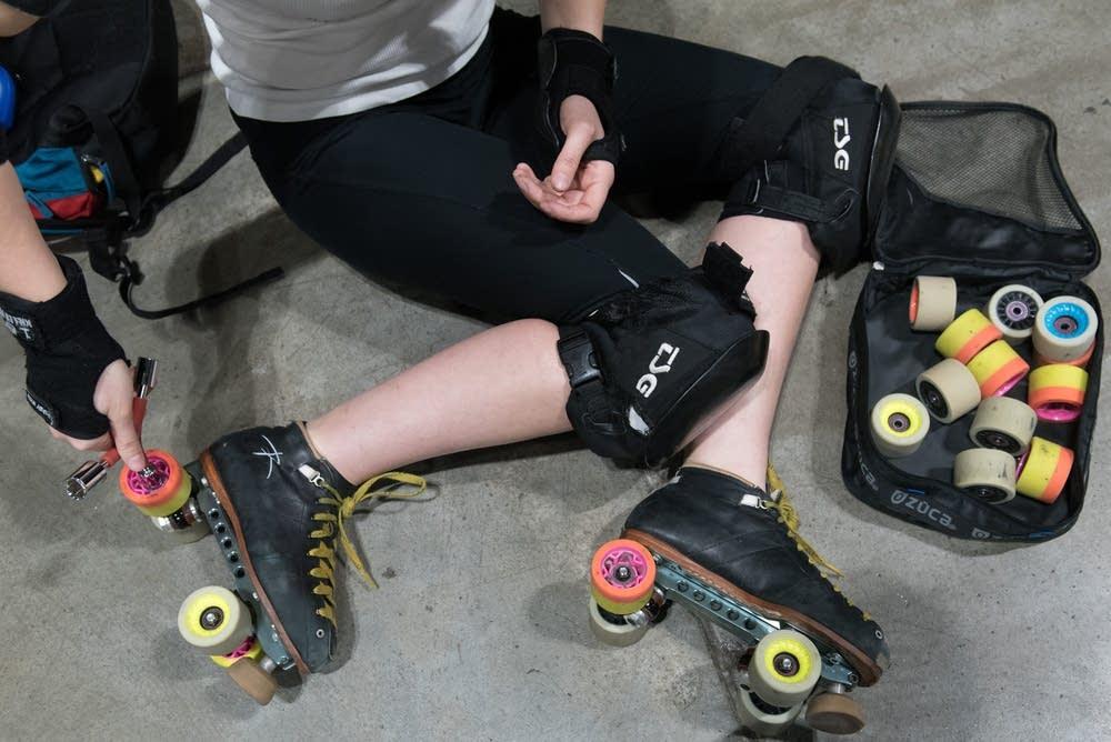 Hurtrude Stein (Jessica Sawicki) readies her skate