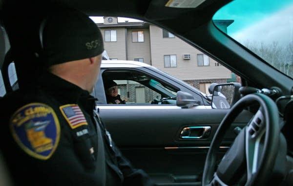 Officer Ryan Ebert, left