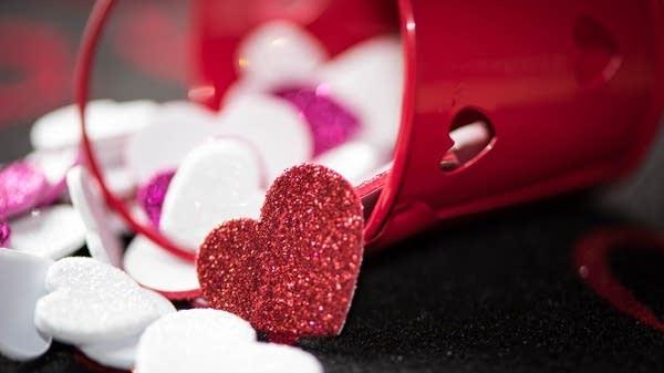 Valentine's Day hearts.