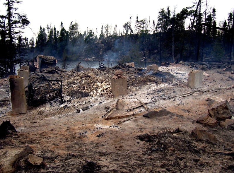 damage from the Ham Lake fire