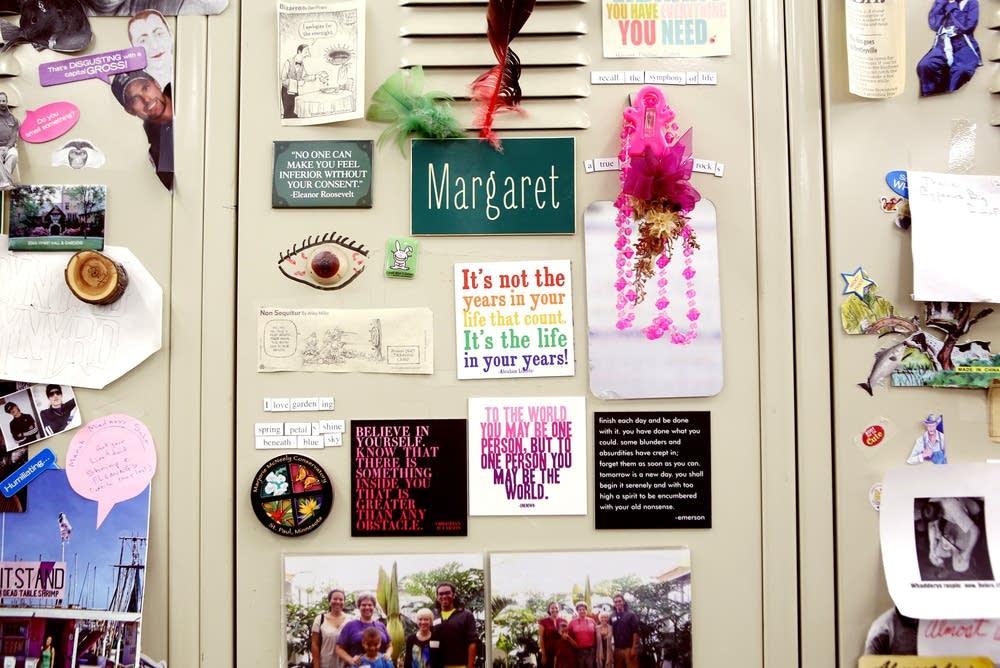Decorated locker