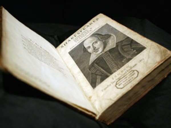 First Folio edition of William Shakespeares' plays