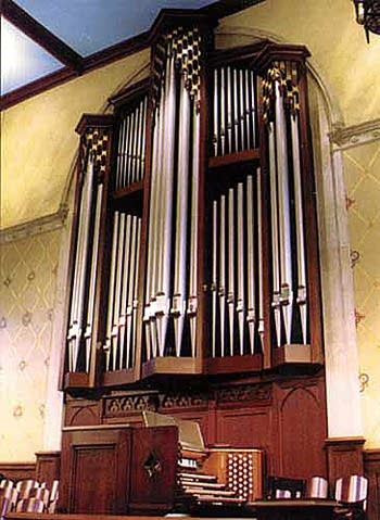 1966 Schantz; 1996 Parkey organ at Atlanta's Central Presbyterian Church.