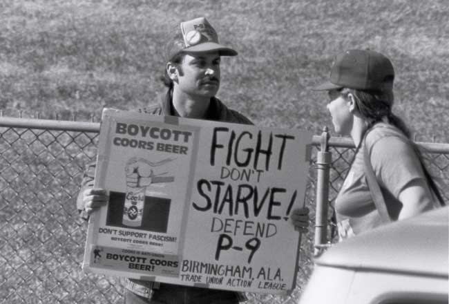 Union supporter during Austin strike