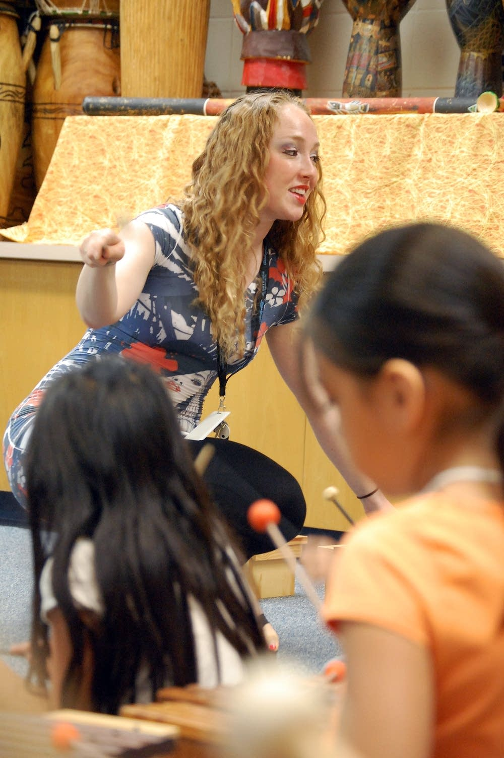 Teaching music class