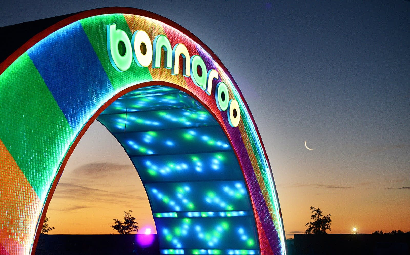 Bonnaroo at night