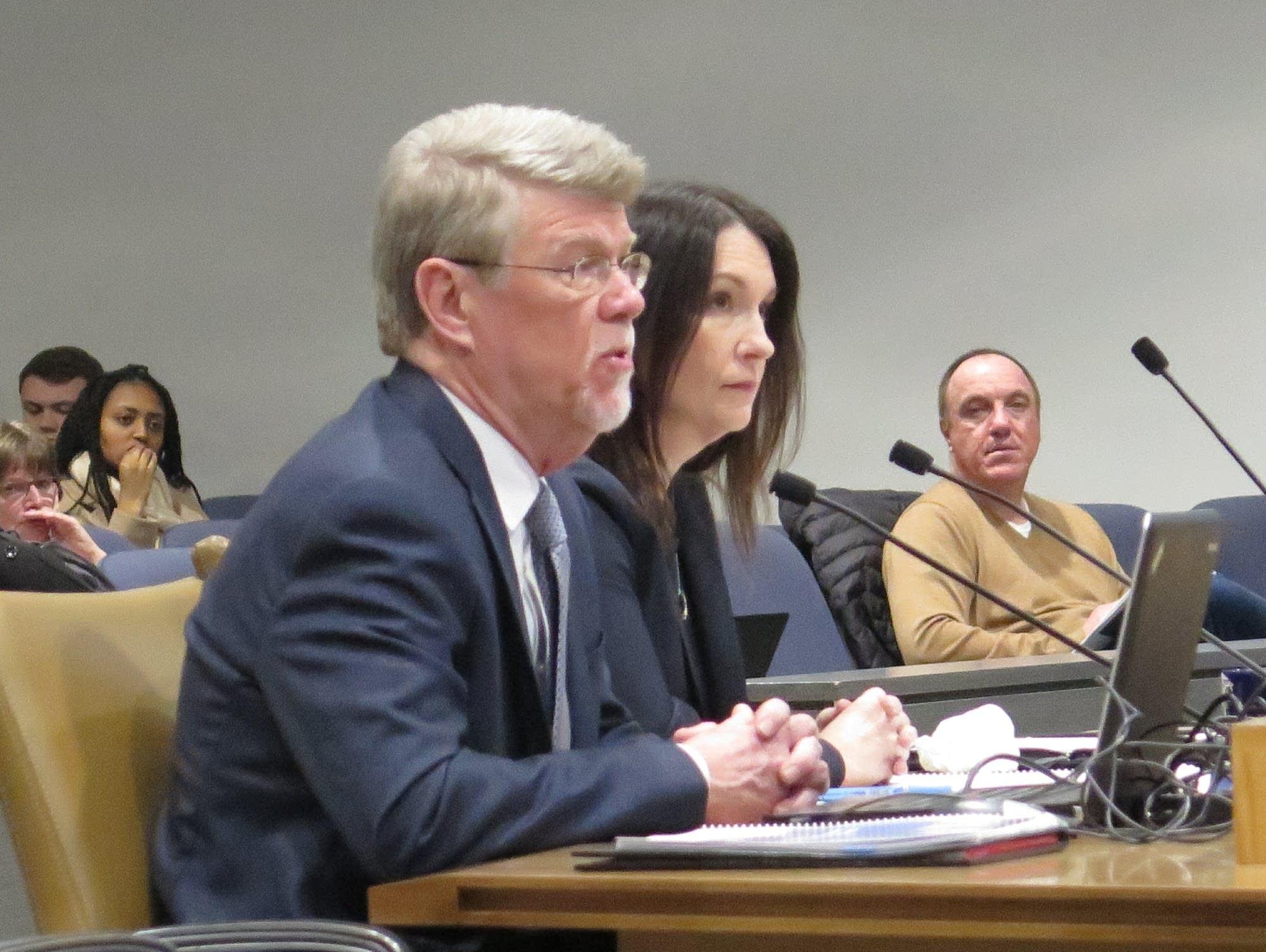 Legislative Auditor James Nobles and Legal Counsel Elizabeth Stawicki