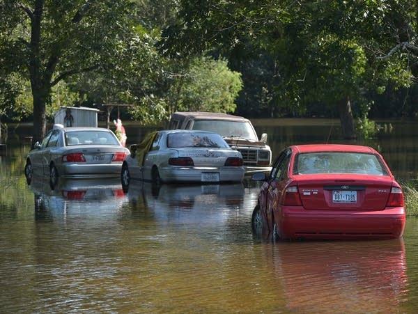 ผลการค้นหารูปภาพสำหรับ Park the car on the road with water flooding.