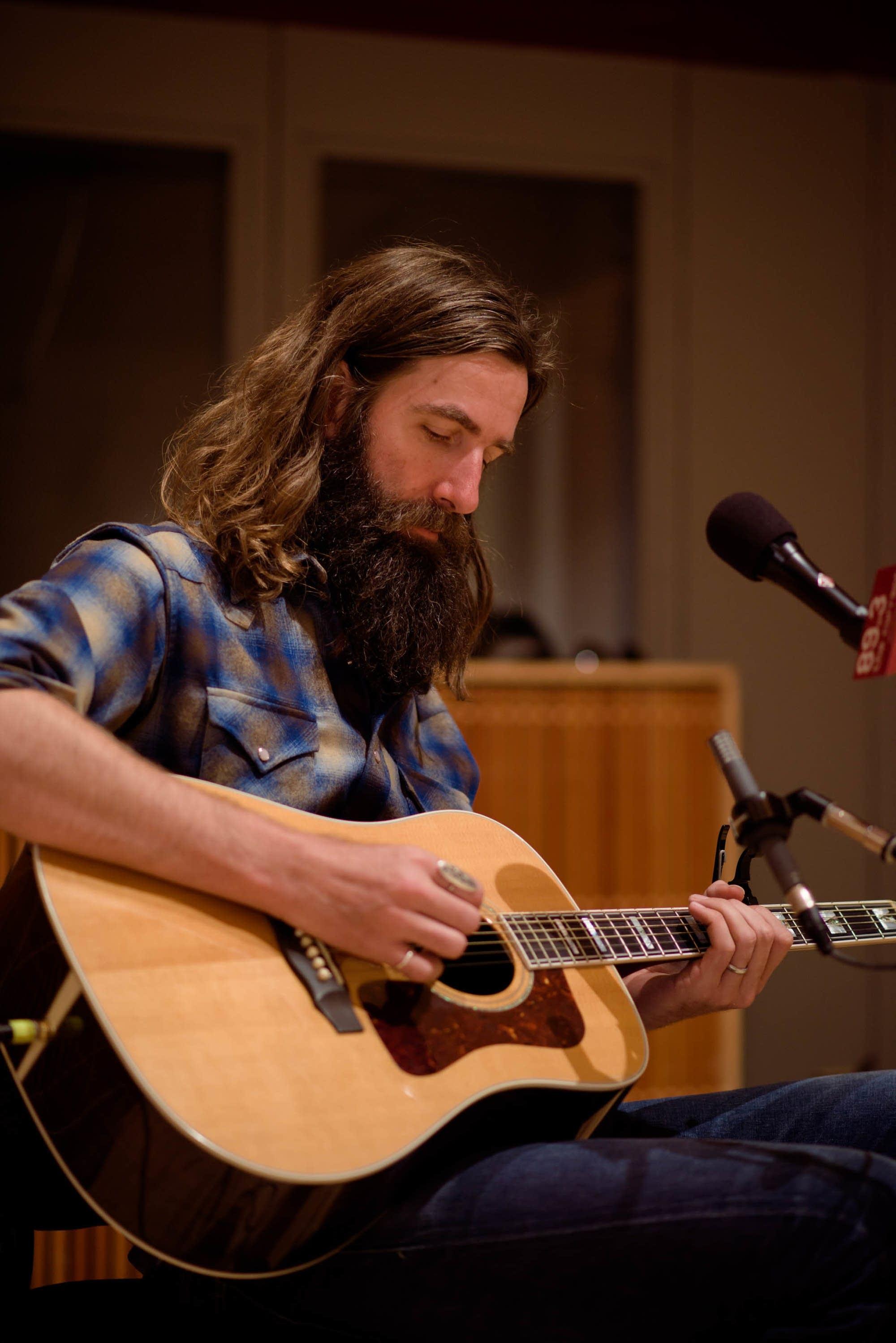 Tyler Ramsey of Band of Horses in studio