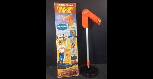 1980s era child's metal detector and its box from RadioShack