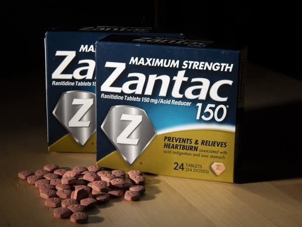 Packages and pills of Zantac