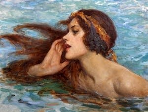 'A Water Sprite or Siren,' by William Henry Margetson (1861-1940).