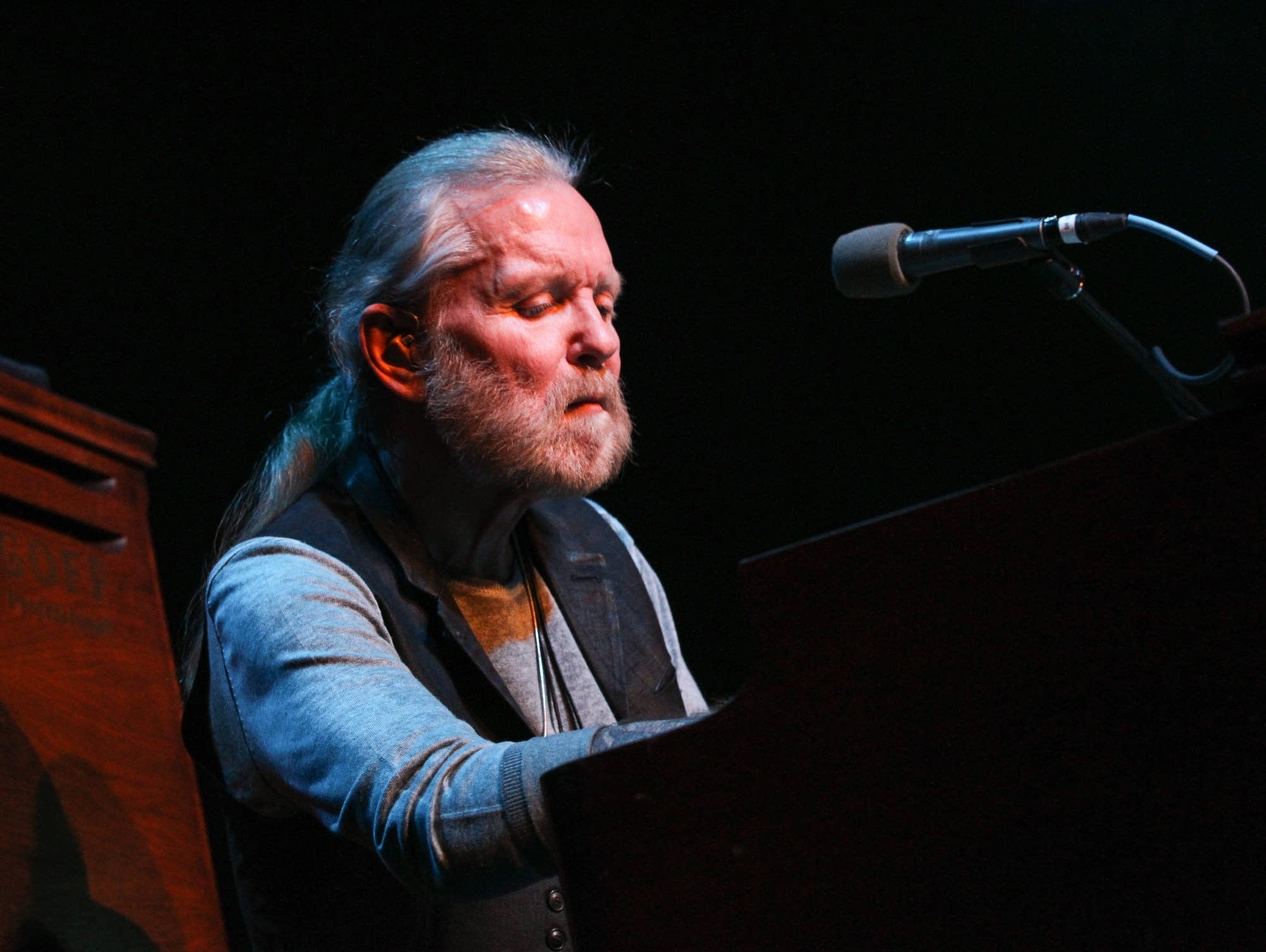 Gregg Allman performs at the Ryman Auditorium in Nashville, 2015