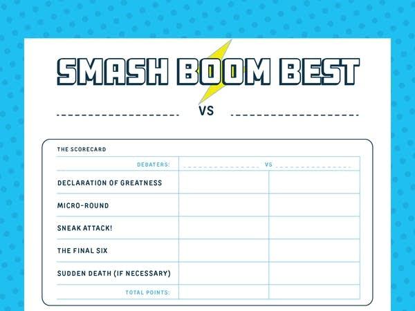 Smash Boom Best Scoresheet