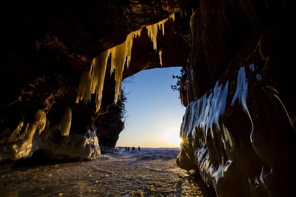 Sunset in the caves