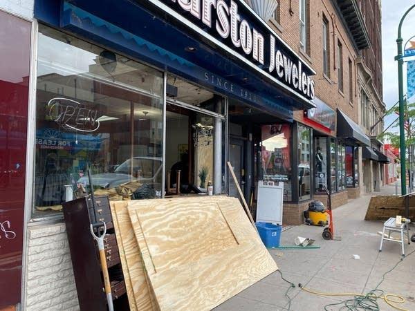 Damaged jewelry store