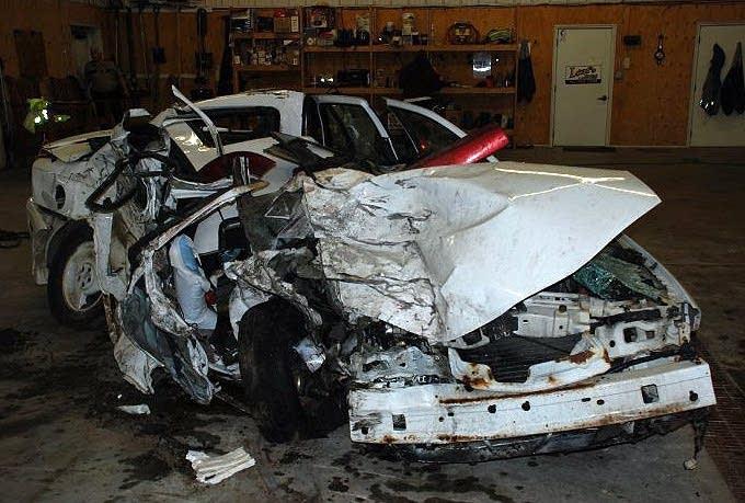 Crashed Pontiac