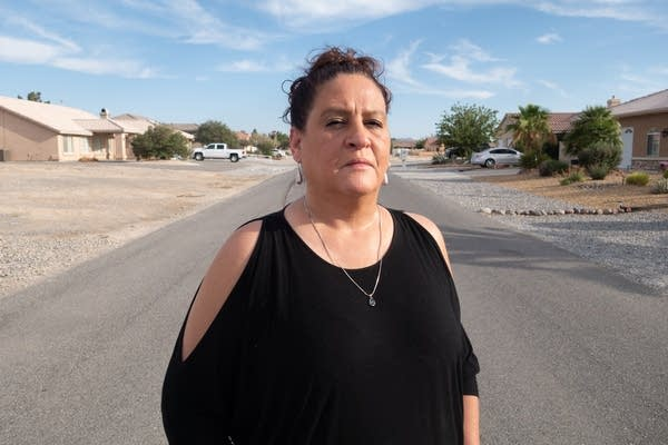 Michelle Westmoreland outside of her Nevada home.