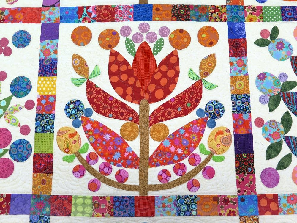 Detail of the quilt, ''Lollipop Tree''