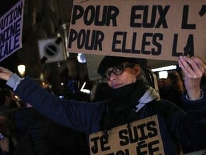Activists protested in Paris over sexual consent.