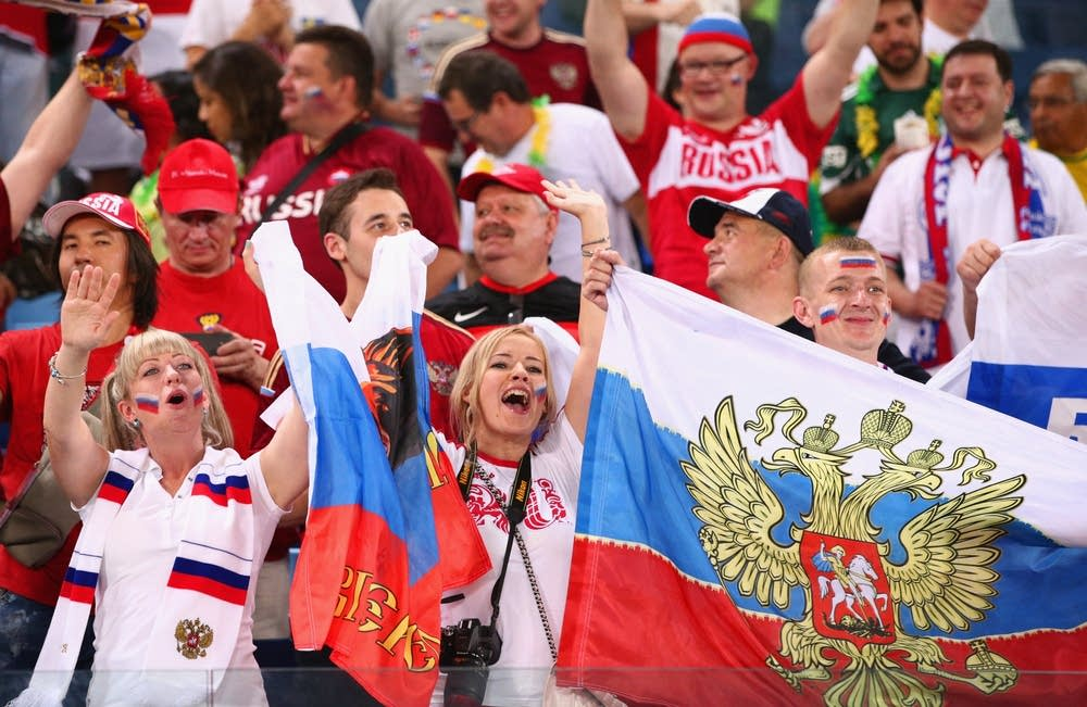 Russian World Cup fans