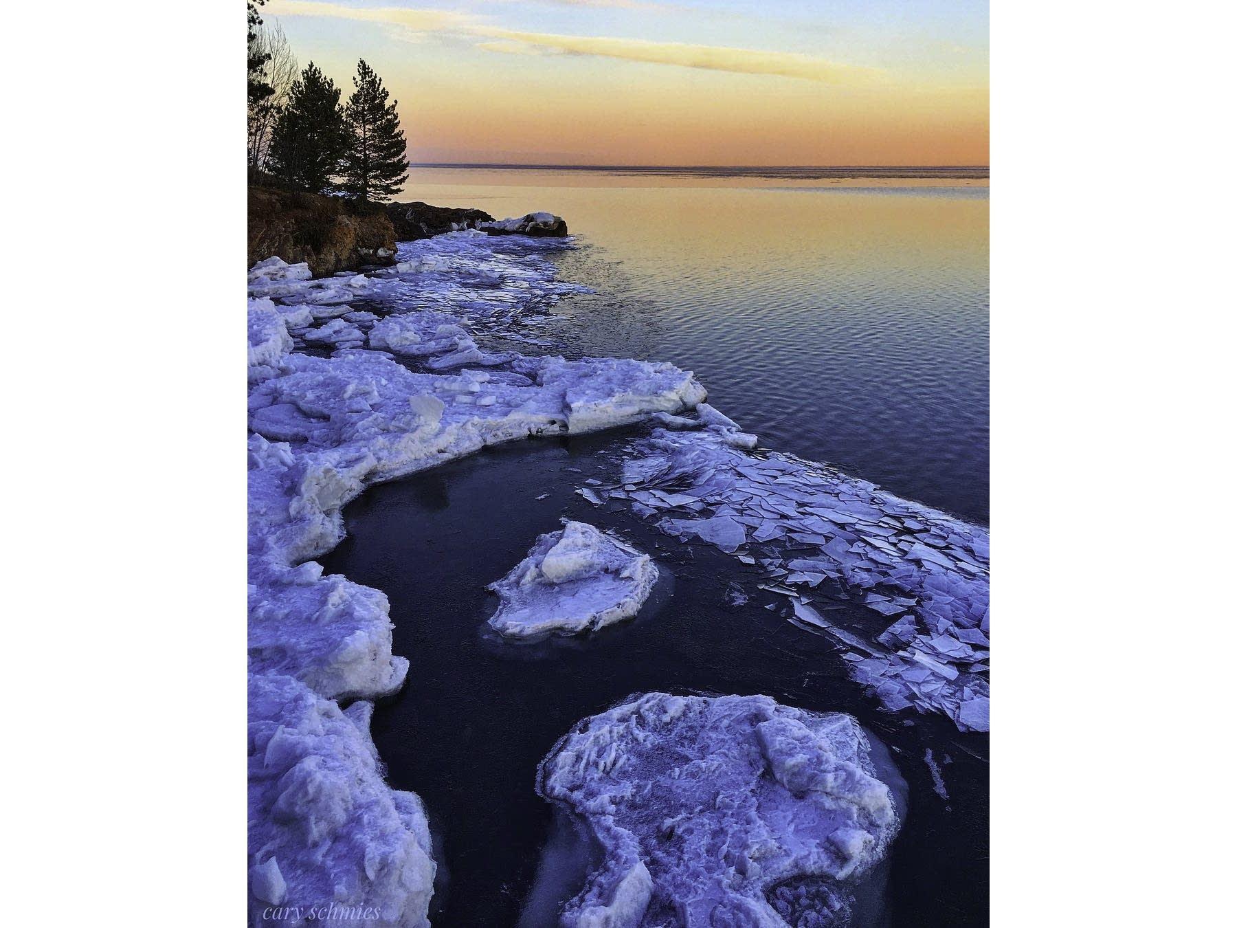 Winter's grip is loosening on Lake Superior.