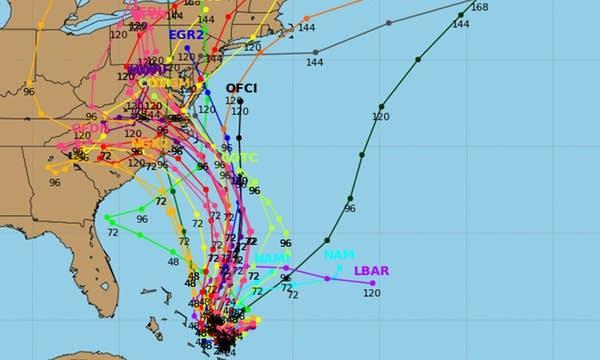 Hurricane Joaquin spaghetti models