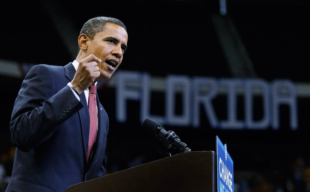 Obama campaigns across Florida