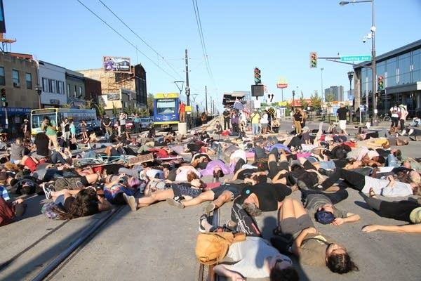 Black Lives Matter protesters