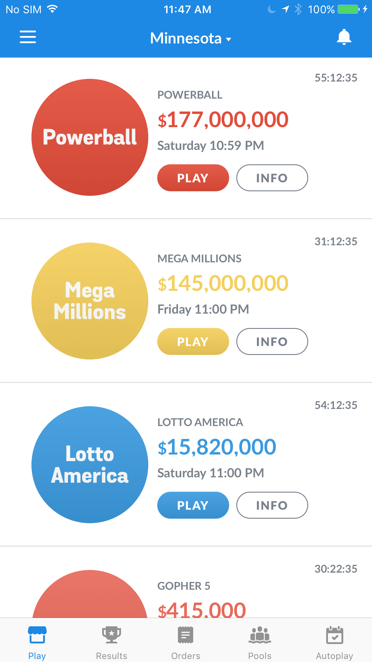 Minnesotans can now buy lottery tickets on their phones.