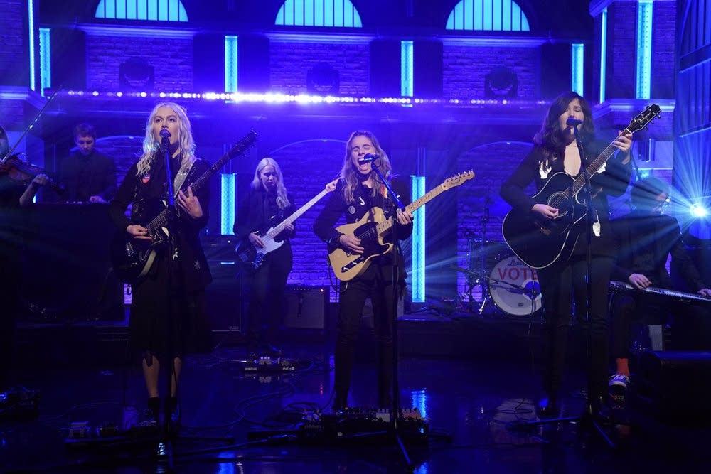 boygenius perform on 'Late Night with Seth Meyers'