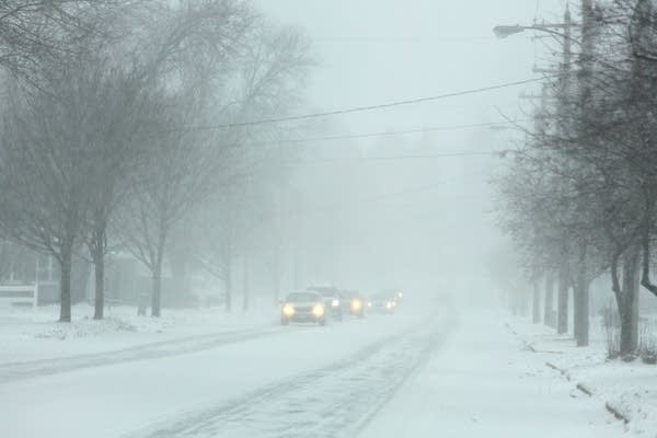 Winter storm in Rochester