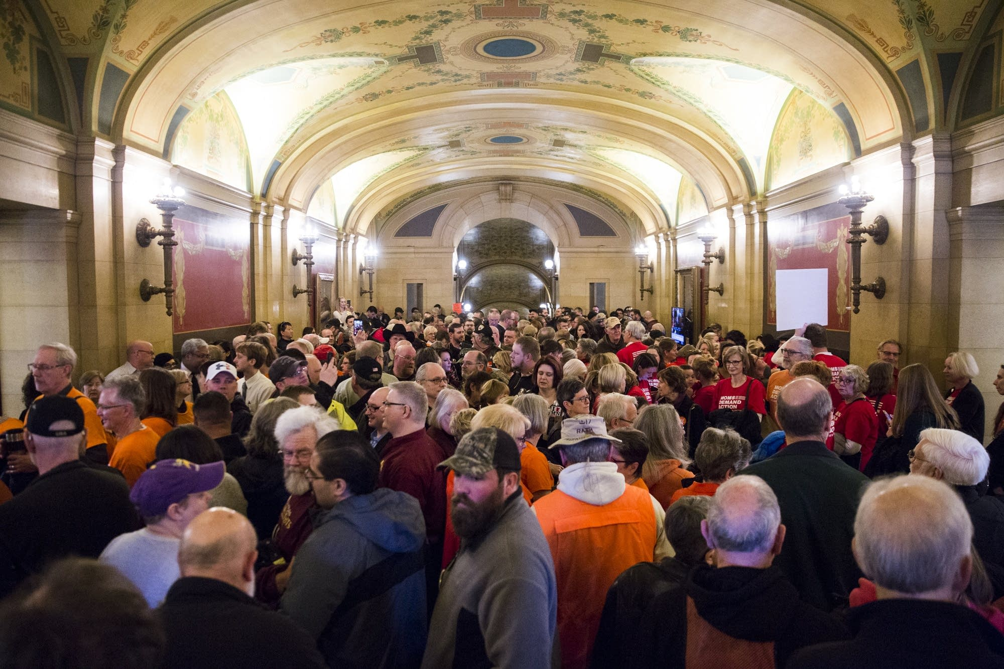 Constituent fills the halls of the Minnesota State Capitol