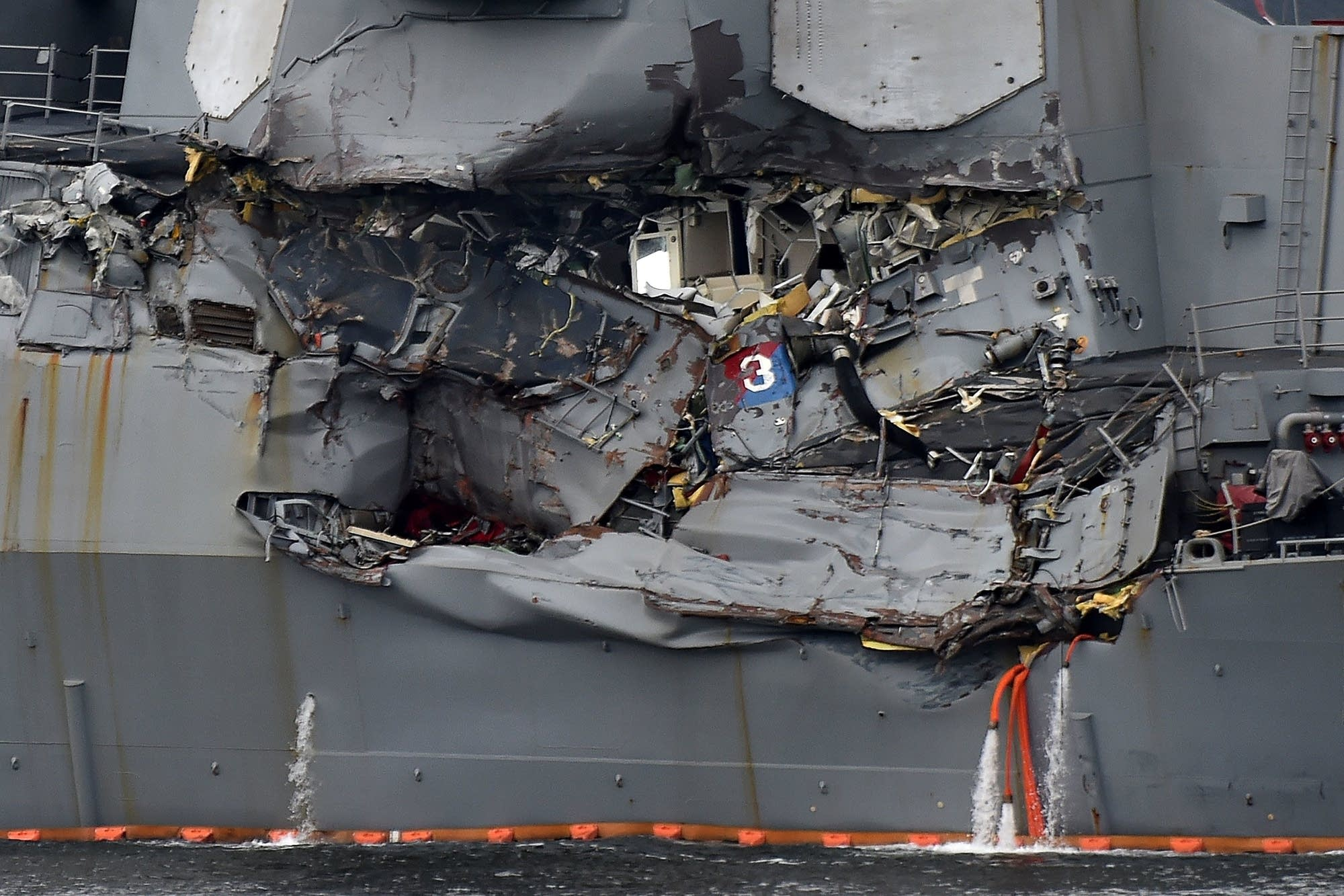 Damage to the guided missile destroyer USS Fitzgerald