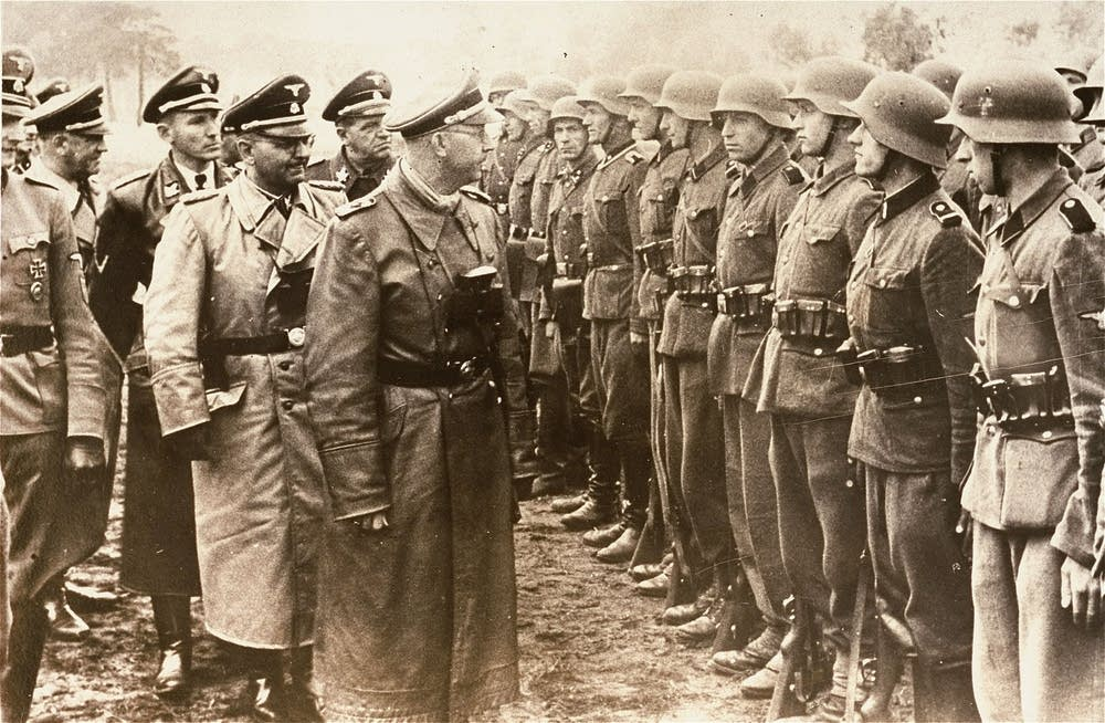 Himmler reviews Galician SS division