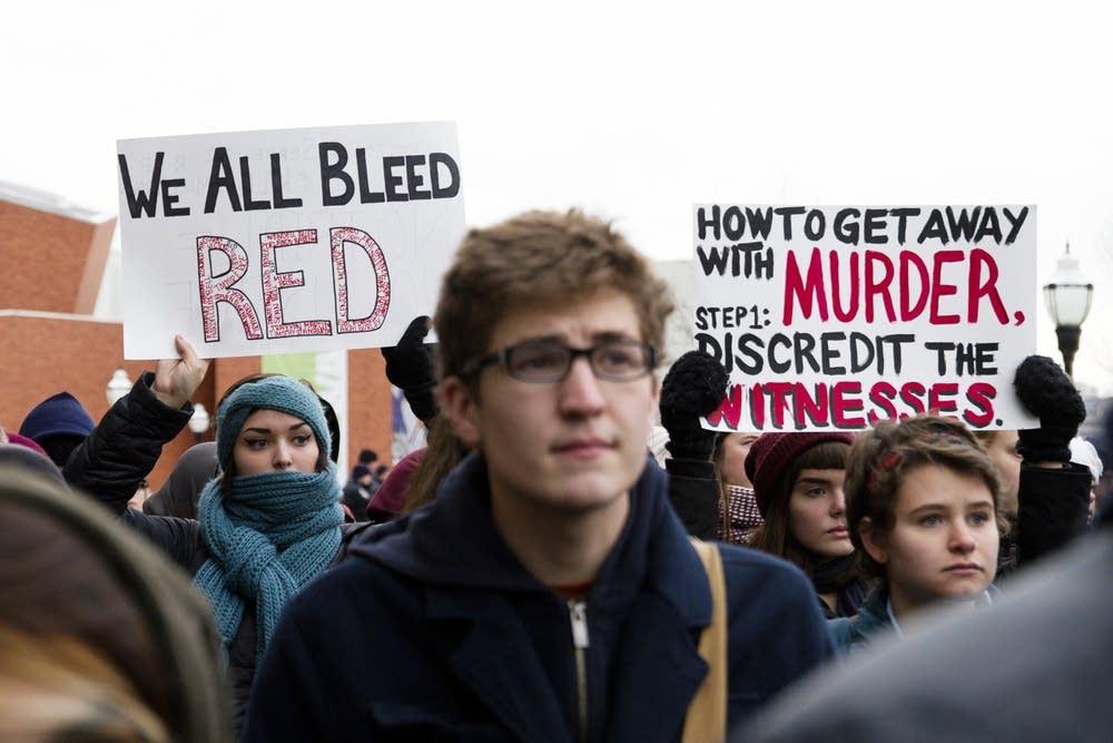 Protesting the Ferguson grand jury decision